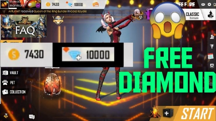 Get 10 500 Free Fire Diamond Hack For Free Join This Consert Now Wb Mirror