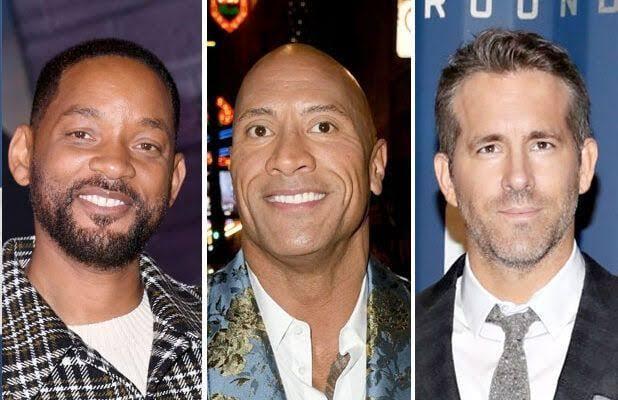 Dwayne Johnson, Akshay Kumar, Will Smith, Ryan Reynolds