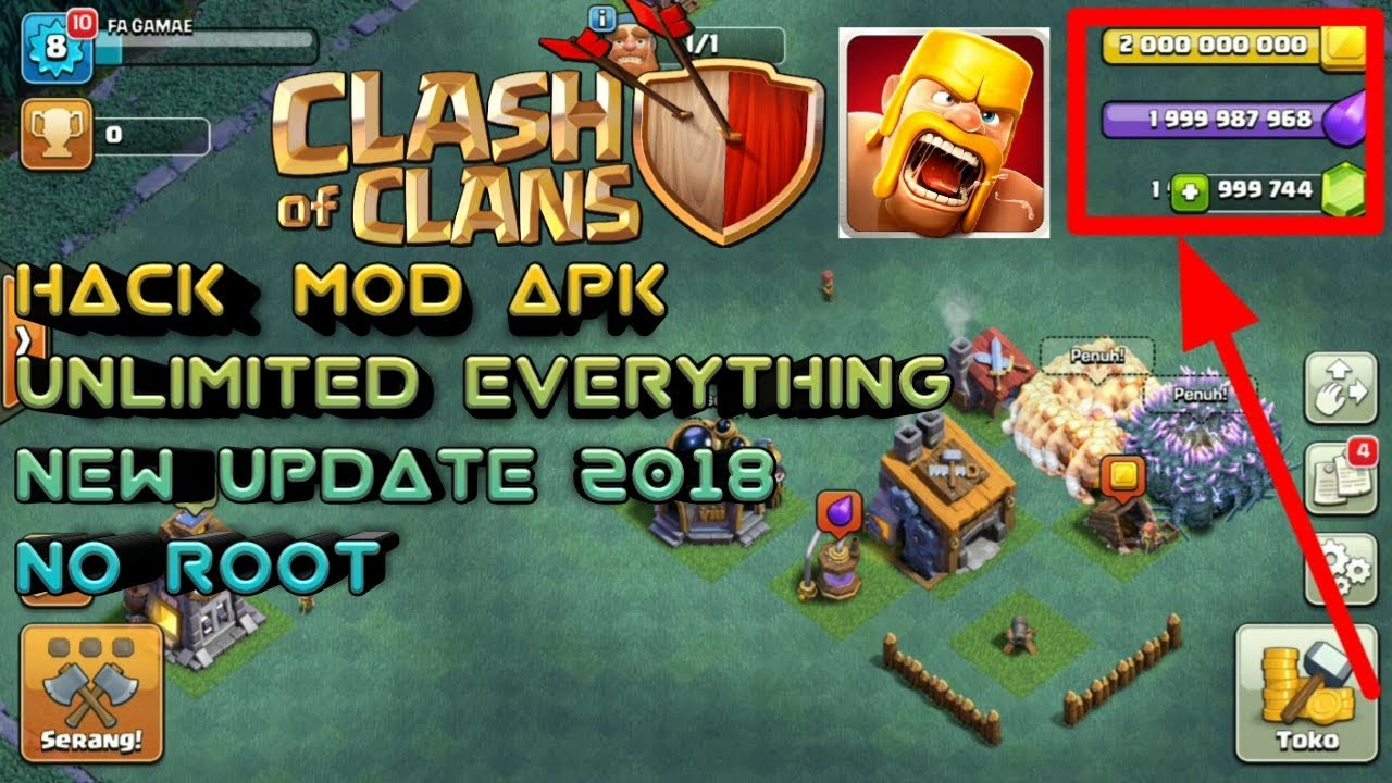 Download Clash Of Clans Hack Mod For Android