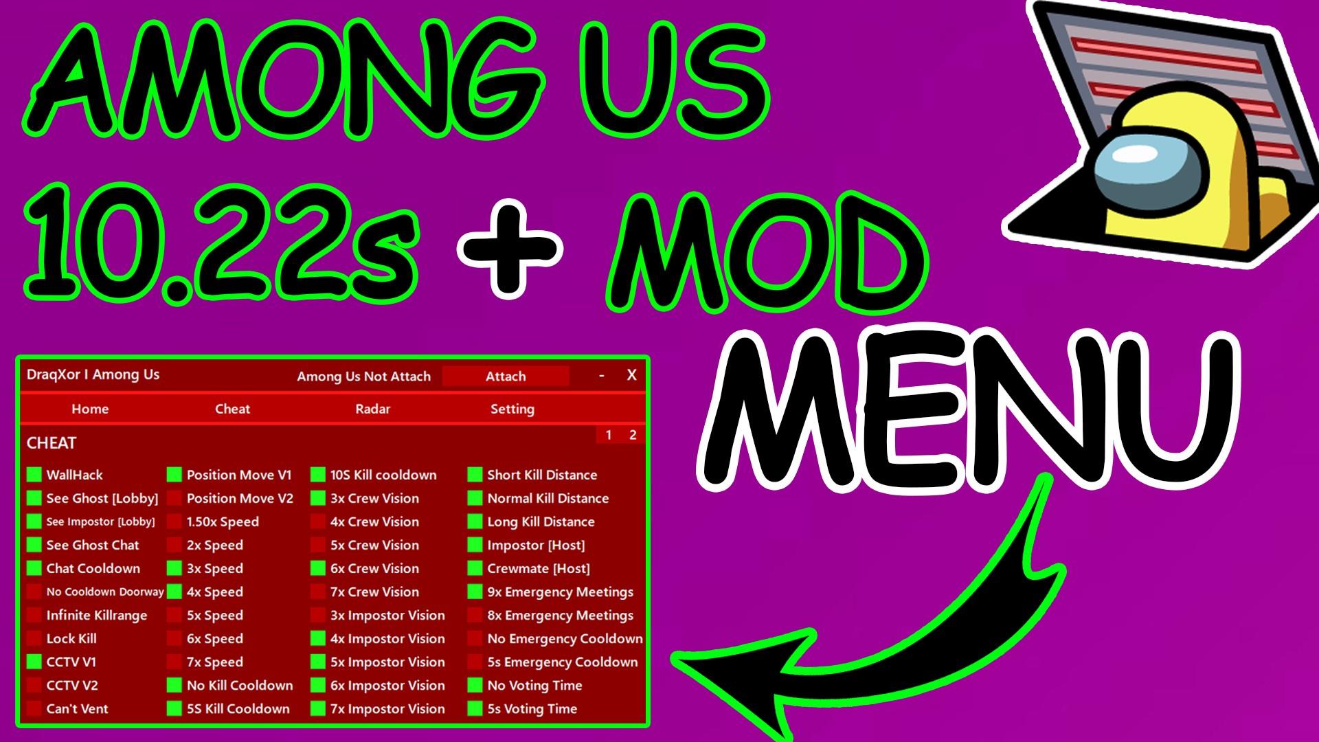 Among us hack mod menu