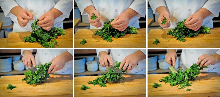How to cut Parsley