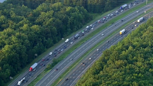 I-95 northbound lanes reopen in Triangle after crash cleared
