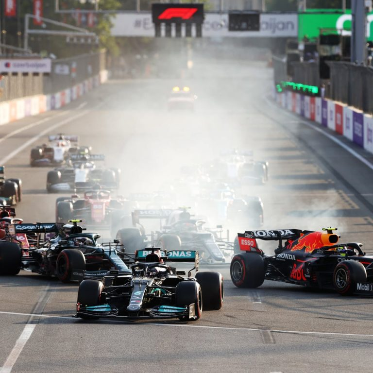 DANGER! Max Verstappen crashed with Lewis Hamilton, From British Grand Prix after first lap battle
