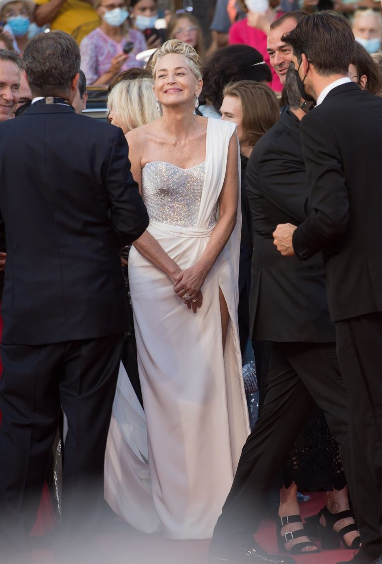 Sharon Stone Shines in White Gown at Cannes Film Festival, Best Pictures